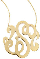 Jennifer Zeuner Jewelry Swirly Initial Necklace, S