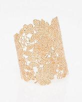 Le Château Metal Filigree Open Cuff Bracelet