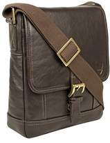 Hidesign Hunter Small Leather Crossbody Messenger.