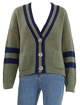 525 Varsity Cropped Cardigan Sweater