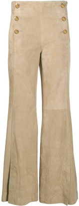 Dorothee Schumacher Flared Buttoned Trousers