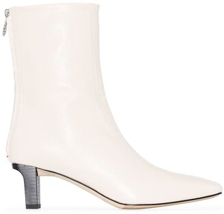 AEYDĒ Molly 55m croc-effect ankle boots