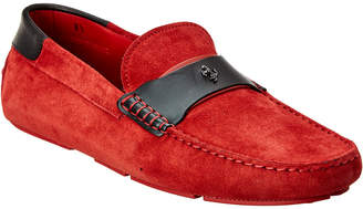 Tod's TodS X Ferrari Suede & Leather Driver