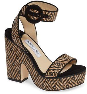 Jimmy Choo Aimee Platform Ankle Strap Sandal