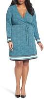 MICHAEL Michael Kors Plus Size Women's Stingray Border Print Wrap Dress