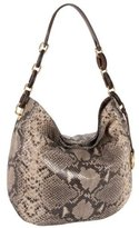 Lilly Python-Embossed Large Hobo