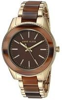 Anne Klein Tort Resin Bracelet Watch (Brown/Gold-Tone) Watches