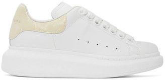 Alexander McQueen White and Off-White Croc Oversized Sneakers