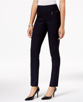 Style&Co. Style & Co Feather-Print Skinny Pants, Only at Macy's