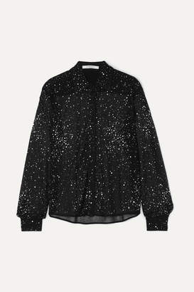 Givenchy Crystal-embellished Lace Shirt - Black
