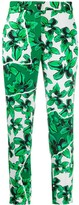 Iceberg cropped floral-print trousers