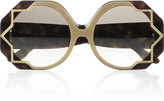Cutler and Gross Star-detailed round-frame acetate sunglasses