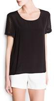 Asymmetric plumeti blouse