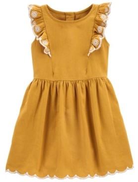 Carter's Toddler Girls Ruffled Linen Dress