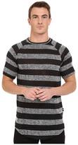Publish Rojan - Striped Loose Gauge Knit Short Sleeve Raglan