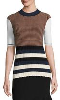 Opening Ceremony Rib-Knit Striped Top