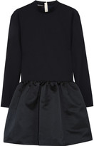 Rochas Stretch-wool and satin mini dress