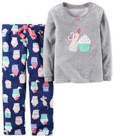 Carter's Toddler Girl Mouse Tee & Fleece Pants Pajama Set