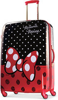 """Disney Minnie Mouse Red Bow 28"""" Hardside Spinner Suitcase by American Tourister"""