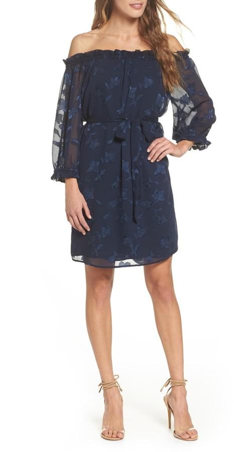 19 Cooper Off-the-Shoulder Elastic Cuff Dress
