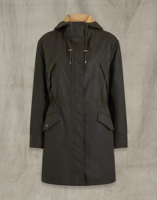 Belstaff BAYWOOD WAXED COTTON PARKA Green UK 8 /