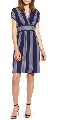 Anne Klein Stripe Belted Dress