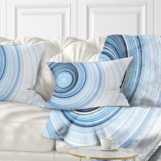 Abstract Radio Waves Lumbar Pillow East Urban Home