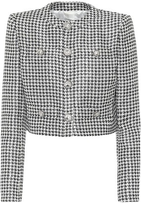 Alessandra Rich Sequined jacquard jacket