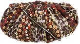 Diane von Furstenberg Embroidered Button-Embellished Crossbody