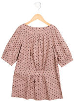 Bonpoint Girls' Ruched Polka Dot Dress