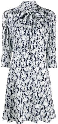 Victoria Victoria Beckham hand-print A-line dress