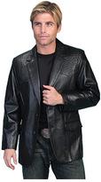 Scully Men's Lambskin Blazer w/ Ostrich Trim 650