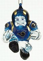 "Evergreen St. Louis Rams 3"" Crystal Halfback Ornament"
