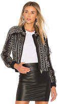Needle & Thread Jet Frill Bomber in Black. - size 0 (also in 2,4,6)