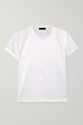 ATM Anthony Thomas Melillo Silk-blend Satin T-shirt - White