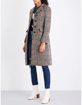 Sandro Checked wool-blend coat