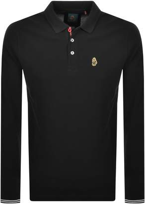 Luke 1977 New Mead Long Sleeved Polo T Shirt Black