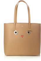 Fendi Roll Hypnoteyes leather tote