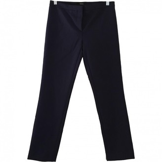 Theory Navy Polyester Trousers
