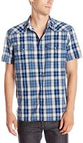 Lucky Brand Men's Short Sleeve Santa Fe Western Shirt