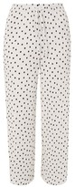 Topshop Plisse Spotted Wide Leg Trousers