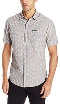 U.S. Polo Assn. Men's Short-Sleeve Slim Fit Printed Canvas Shirt