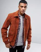 Barney's Originals Barneys Premium Suede 70's Style Lined Harrington Jacket