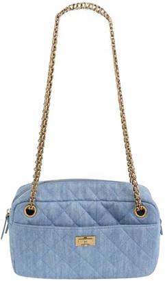Chanel Blue Denim Chain Shoulder Bag
