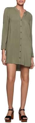 BCBGeneration Cut-Out Long-Sleeve Shirtdress