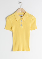 And other stories Knit Polo Top