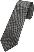 Oxford Silk Tie Houndsth Blk/Gry X