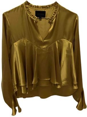 Birgitte Herskind Yellow Silk Top for Women