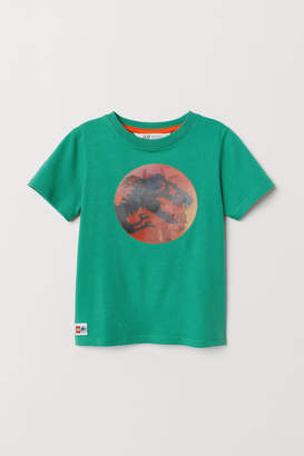 H&M T-shirt with Motif - Green