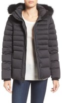 Andrew Marc 'Kelly' Convertible Down Jacket with Genuine Fox Fur Trim